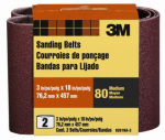 3M 9261NA-2 2-Pk., 3 x 18-In. 80-Grit Heavy-Duty Sanding Belt