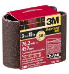 3M 9284-2 2-Pk., 3 x 18-In. 40-Grit Heavy-Duty Sanding Belt