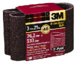 3M 9285-2 2-Pk., 3 x 21-In. 40-Grit Heavy-Duty Sanding Belt