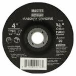 Disston 760394 Masonry Grinding Wheel, 4 x 0.25 x 5/8-In.