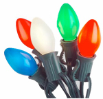Noma/Inliten-Import 2524-88 Christmas Lights Set, C7 Multi-Color Ceramic, 25-Ct.