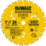 Dewalt Accessories DW3599B10 7.25-In. 24-TPI Thin Kerf Framing Blade