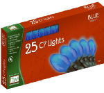 Noma/Inliten-Import 2524B-88 Christmas Lights Set, Blue Ceramic, 25-Ct.