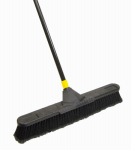 Quickie Mfg 00633 Super Bulldozer Push Broom, Soft Polypropylene Fibers, 24-In.