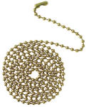 Westinghouse Lighting 77012 12-Inch Brass Beaded Chain