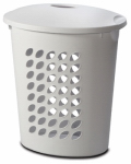 Sterilite 12558006 WHT Oval Laundry Hamper