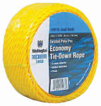 Wellington Cordage 14978 1/4-Inch x 100-Ft. Yellow Polypropylene Rope