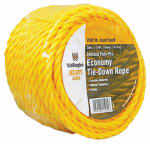 Wellington Cordage 15015 3/8-Inch x 100-Ft. Yellow Polypropylene Rope