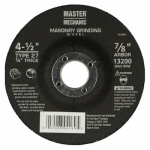 Disston 764897 Arbor Masonry Depressed Center Grinding Wheel, 4.5 x 0.25 x 7/8-In.