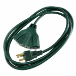 Ho Wah Gentin Kintron Sdnbhd 04314ME Outdoor Extension Cord, Green, Triple Tap, 8-Ft.