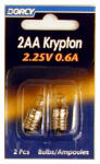 Dorcy International 41-1664 2-Pack 2 'AA' Krp222 Krypton Bulb