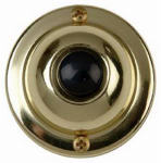 Thomas & Betts DH1605 Solid-Brass Round Door Chime Button For Wired Systems