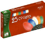 Noma/Inliten-Import 2924-88 Christmas Lights Set, Multi-Color C9 Ceramic,  25-Ct.