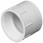 Charlotte Pipe & Foundry PVC 00101  1200HA Plastic Pipe Fitting, DWV  Female Pipe Thread Adapter, PVC, 3-In.