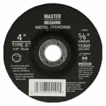 Disston 768082 Arbor Metal Depressed Center Grinding Wheel, 4 x 0.25 x 0.625-In.