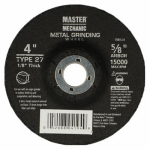 Disston 768124 Arbor Metal Depressed Center Cutting Wheel, 4 x 0.125 x 0.625-In.