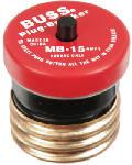 Cooper Bussmann BP/MB-15 15A 125V Edison Base Plug Fuse Circuit Breaker