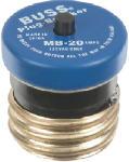 Cooper Bussmann BP/MB-20 20A 125V Edison Base Plug Fuse Circuit Breaker