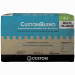 Custom Bldg Products CBTSW50 Standard Thin-Set Mortar, White, 50-Lbs.