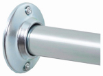 Zenith/Bathware AL500S Shower Rod, Chrome Finish, 60-In.