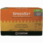 Custom Bldg Products SDS25 25LB Gray Speed Set Mortar