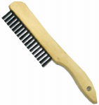 Abco Products 01709 Wire Brush, Shoe Handle, Steel & Wood