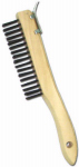 Abco Products 01710 Wire Brush With Scraper, Shoe Handle, Steel & Wood