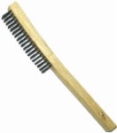 Abco Products 01711 Wire Brush, Curved Long Handle, Steel & Wood