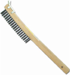 Abco Products 01712 Wire Brush With Scraper, Curved Long Handle, Steel & Wood