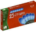 Noma/Inliten-Import 2924B-88 Christmas Lights Set, Blue Ceramic, 25-Ct.