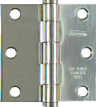 National Mfg/Spectrum Brands Hhi N276-980 3 x 3 Stainless Steel Square Corner Door Hinge