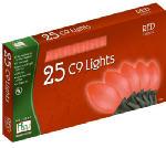 Noma/Inliten-Import 2924R-88 Christmas Lights Set, Red Ceramic, 25-Ct.