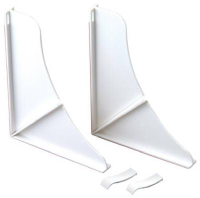 76814WH 2-Pack White Shower Splash Guards - Quantity 1