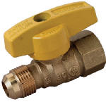 Brass Craft Service Parts PSSD-41 Gas Valve, 1/2-In. O.D. x 1/2-In. Female Iron Pipe