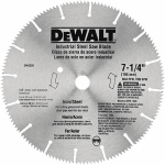 Dewalt Accessories DW3330 7.25-In. Steel & Iron-Cutting Saw Blade