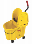 Rubbermaid Comm Prod FG757788YEL Mop Bucket & Wringer, Yellow, 26/35-Qt.