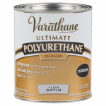Rust-Oleum 242177H Varathane Qt. Clear Satin Interior Oil-Based Premium Polyurethane Wood Finish