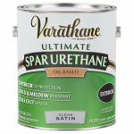 Rust-Oleum 242182 Varathane Gallon Clear Satin Exterior Oil-Based Premium Spar Urethane Finish