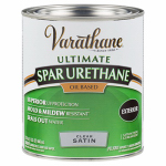 Rust-Oleum 242183H Varathane Qt. Clear Satin Exterior Oil-Based Premium Spar Urethane Wood Finish