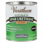 Rust-Oleum 242186H Varathane Qt. Clear Semi-Gloss Exterior Oil-Based Premium Spar Urethane Wood Finish