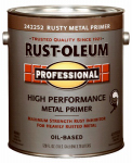 Rust-Oleum 242252 Professional Flat Metal Primer, Rusty, 1-Gal.