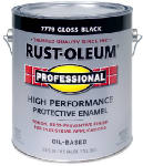 Rust-Oleum 242253 Professional Finish, Black Gloss, 100-VOC., 1-Gal.