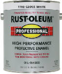 Rust-Oleum 242256 Professional Finish, White Gloss, 100-VOC., 1-Gal.