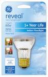 G E Lighting 82142 Reveal 60-Watt Halogen Floodlight Bulb