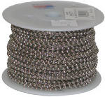 Jandorf Specialty Hardware 88444 Nickel-Plated Steel Beaded Chain, #6, 100', Sold in Stores by the Foot
