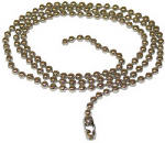 Jandorf Specialty Hardware 94992 3-Ft. Brass Plated Steel Beaded Chain
