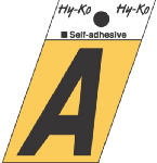 Hy-Ko Prod GR-10/A 1-1/2-Inch Black/ Gold Aluminum Adhesive Angle Cut A
