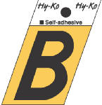 Hy-Ko Prod GR-10/B 1-1/2-Inch Black/ Gold Aluminum Adhesive Angle Cut B