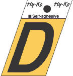 Hy-Ko Prod GR-10/D 1-1/2-Inch Black/ Gold Aluminum Adhesive Angle Cut D