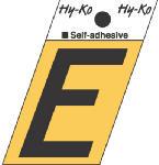 Hy-Ko Prod GR-10/E 1-1/2-Inch Black/ Gold Aluminum Adhesive Angle Cut E